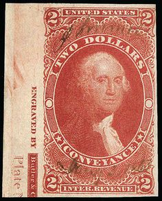 United States Revenue, 1862, First Issue, $2 Conveyance, imperf. Opening Bid: 260.00 US$