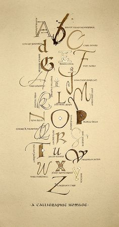 by wild woman - alphabet based on classes/instructors