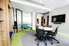 Office Fit Out - Meeting Room - Interface Urban Retreat Carpet - Herman Miller Satu Chair and Swoop Lounge Chair - Prothena Bioscience, Dun Laoghaire, Co. Dublin, by Think Contemporary
