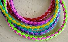 braided lanyards (And there was Flat, round, and square braiding.