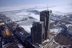 Zimowa Gdynia z lotu ptaka / Bird's eye view of winter Gdynia | fot. Mariusz Sorn | #zima #gdynia #winter #birdseye