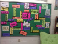 Found this on Entirely Elementary School Counseling blog!! I'm excited I had time to put this up in my office!