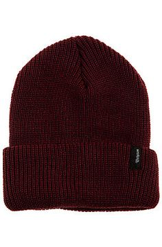 c9e94510430 The Heist Beanie in Burgundy by Brixton Brixton