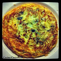 Tortilla de Calabacín. Recetas de fácil y sencilla