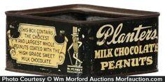 Planters Milk Chocolate Peanuts Tin – Planters Milk Chocolate Peanuts   Antique Advertising