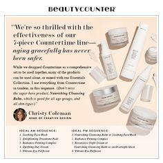 Beautycounter Countertime anti-aging line. Amazing. www.sarahtarnovsky,beautycounter.com sarahsbeautycounter@gmail.com