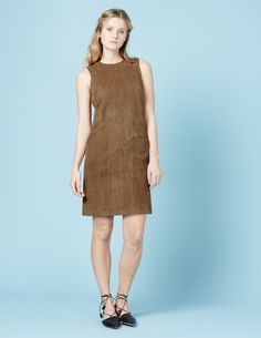 Sienna Suede Tunic Dress WH995 Smart Day Dresses at Boden