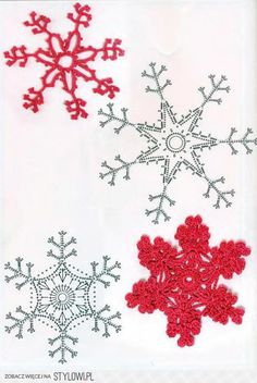 Lacy Crochet Snowflakes with charts