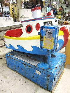 Vintage Tug Boat Kiddie Ride - cute.