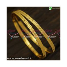 Indian Jewellery Online, South Indian Jewellery, Indian Jewelry, Simple Jewelry, Metal Jewelry, Blue Dart, Gold Plated Bangles, Flat Shapes, Imitation Jewelry