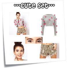 """cute set"" by megi-star on Polyvore"