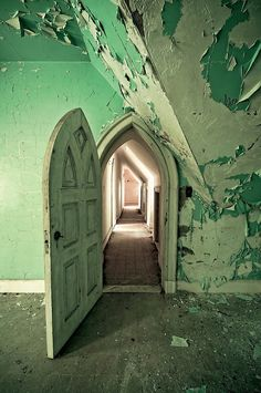 """A rooom in the abandoned Dundas Castle in Roscoe, NY.  It was built by New York architect Bradford L. Gilbert and named the """"Beaverkill Lodge"""". The land, named Craig-e-Clair, was specifically chosen by Gilbert's Scottish wife because of its amazing resemblance to the Emerald Isle."""