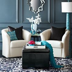 Pier1~ Black, White and Teal