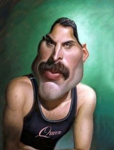 The Exhibition of Caricature by Walter Fornero/ Argentina :: Freddie Caricature Artist, Caricature Drawing, Funny Caricatures, Celebrity Caricatures, Freddie Mercury, Betty Boop, Funny Illustration, Wedding Humor, Funny Art
