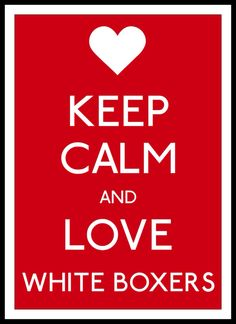 Keep Calm and Love White Boxers