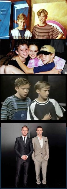 Puberty win. Ryan Gosling and Justin Timberlake