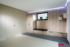 Kompletné zariadenie vstupnej chodby / Furniture, woodwall and interior door in entrance hall. Entrance Hall, Interior Door, Interior Design, Portfolio, Wooden Walls, Carpentry, Woodworking Projects, Furniture Design, Garage Doors