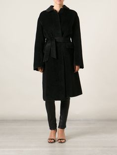 Agnona Belted Overcoat - Liska - Farfetch.com