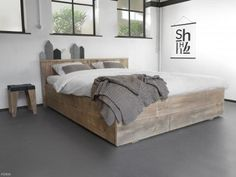 Lumber bed Jaron I single and double beds made of lumber - Lumber bed Jaron I single and double beds made of lumber - Bedroom Bed, Home Decor Bedroom, Diy Bett, Simple Bed, New Beds, Minimalist Bedroom, How To Make Bed, My New Room, Bed Spreads