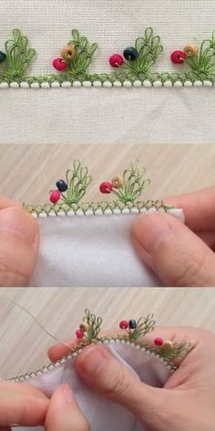 Şirin İğne Oyası Modeli Needle Lace, Needle And Thread, Tatting Patterns, Crochet Patterns, Felt Crafts, Diy And Crafts, Hand Embroidery, Embroidery Designs, Crochet Borders