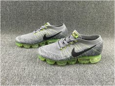 2b49ff0f61 Nike Flyknit Air VaporMax 2018 Men's Running Shoes Grey Green Black, cheap Nike  Air Max 2018 Men, If you want to look Nike Flyknit Air VaporMax 2018 Men's  ...