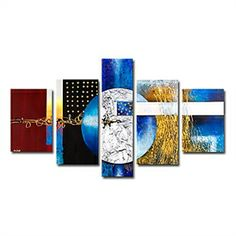 Hand-painted Abstract Oil Painting with Stretched Frame - Set of 5 - See more at: http://www.homelava.com/en-hand-painted-abstract-oil-painting-with-stretched-frame-set-of-5-p11027.htm#sthash.lEbZWGUi.dpuf