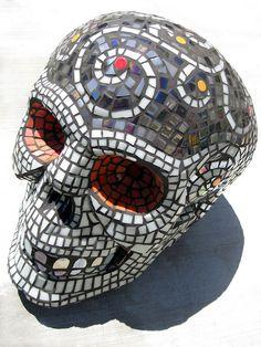 Mosaic Skull (angled view) by IndarNation, via Flickr