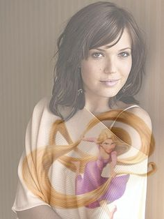 Mandy Moore as Rapunzel. I could see Mandy's likeness in Rapunzel especially at the end when she had short brown hair like Mandy does in this pic.