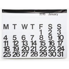 Stendig Calendar 2016 (2.535 RUB) ❤ liked on Polyvore featuring home, home decor, black and white home decor and european home decor