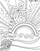 Beach Coloring Pages Free printables Pinterest Beach Adult