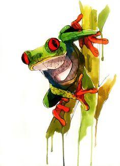 Art - Frog,  by Sarah McCloskey