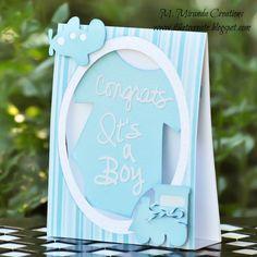 SVG Attic Blog Baby Boy Card #svgattic
