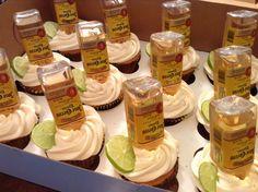 Jose Cuervo buttercream cupcakes Liquor Cupcakes, Alcohol Infused Cupcakes, Alcoholic Cupcakes, Liquor Cake, Alcohol Cake, Alcoholic Desserts, Yummy Cupcakes, Buttercream Cupcakes, Gourmet Cupcakes
