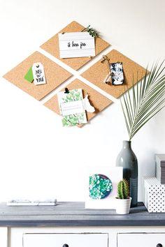 Maak je eigen prikbord met ons zelfklevend kurk. Superleuke en hippe wanddecoratie! #wonenvoorjou
