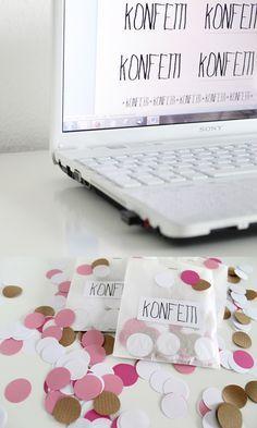 Konfetti in Tüten | Konfetti statt Reis: Mit diesen hübschen Konfetti-Tüten sind Deine Hochzeitsgäste garantiert gut vorbereitet! | DIY Hochzeit