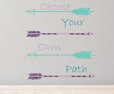 Arrow wall decal choose your own path quote wall by ValdonImages, $42.00