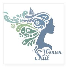 Woman Who Sail Logo Square Sticker x Woman Who Sail Logo Sticker by The Blue Blender Boutique - CafePress Bmw I8, Logo Sticker, Sticker Shop, Sailing Logo, Yacht Vacations, Logos, Custom Stickers, Gifts, Woman
