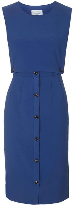 Womens delft pinafore highwaisted midi dress by jovonna from Topshop - £39 at ClothingByColour.com