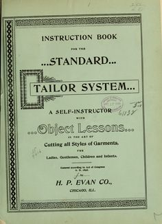 Tailoring lessons, drafting clothes for anyone. 1800s.