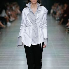 Inspiration from the runway styled by @ markvassallo   Shop all ANNA QUAN shirting online now
