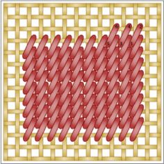 broderi teknikker sting sy - Work Stunning Needlepoint Effects with the Encroaching Gobelin Stitch: Working the Encroaching or Interlocking Gobelin Stitch is Simple Bargello Needlepoint, Needlepoint Stitches, Needlepoint Canvases, Needlework, Plastic Canvas Stitches, Plastic Canvas Tissue Boxes, Plastic Canvas Crafts, Plastic Canvas Patterns, Cross Stitching