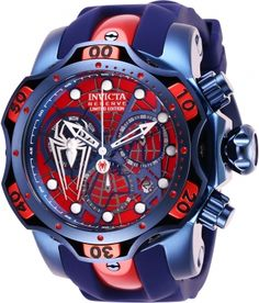 Shop a great selection of Invicta Men's Marvel Stainless Steel Quartz Watch Silicone Strap, Blue, 26 (Model: Find new offer and Similar products for Invicta Men's Marvel Stainless Steel Quartz Watch Silicone Strap, Blue, 26 (Model: Stylish Watches, Luxury Watches For Men, Amazing Watches, Cool Watches, Patek Philippe, Brown Leather Strap Watch, Accesorios Casual, Hand Watch, Watch Model