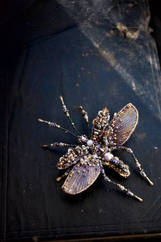 Mosquito brooch Beetle brooch Crane fly Insect jewelry