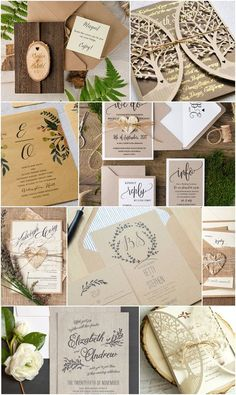 See 15 of Our Favorite Barn Wedding Invitations - Links to all designs in blog post!