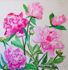 Hey, I found this really awesome Etsy listing at https://www.etsy.com/listing/248970221/the-pink-peonies-rich-100-original