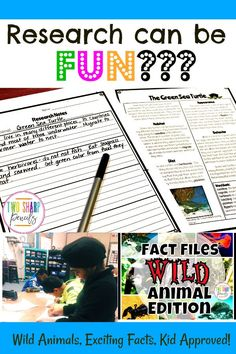 If you're tired of boring research reports, grab this Wild Animal Fact Files! 10 Wild animal articles, note pages and more! Weird Animal Facts, Animal Facts For Kids, Fun Facts About Animals, Animals For Kids, Teaching Writing, Writing Activities, Animal Fact File, Animals Information, Animal Articles