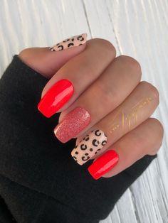 Red Nail Designs, Nail Polish Strips, Color Street Nails, Red Nails, Nails Inspiration, Summer Nails, You Nailed It, Coral, Beauty