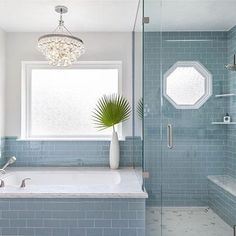 We are absolutely in love with her photos of our latest remodel. Such a rewarding and swoon-worthy project! The rest of the photos are on the portfolio on our website under Glamorous Glass Ensuite --> link in bio. Bathroom Spa, Bathroom Renos, Bathroom Colors, Bathroom Interior, Interior Design Living Room, Small Bathroom, Bathroom Ideas, Master Bathrooms, Pink Bathrooms