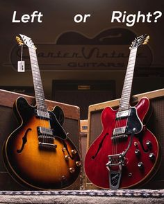 Left or right? Which one of these two 64 ES-335s would you grab? Check out more at @cartervintageguitars #gibson #gibsones335 #vintageguitar #es335 #bigsby #guitar #studio33guitar Gibson Es 335, Guitar Pics, Vintage Guitars, Photo And Video, Check, Instagram