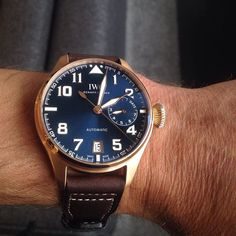 Love this LE boutique only #iwc #bigpilot I tried on in the #London boutique  #womw #wotd #watchgeek #watchporn #wristporn #instawatch #uhren #montre #horology #dailywatch by 111forza